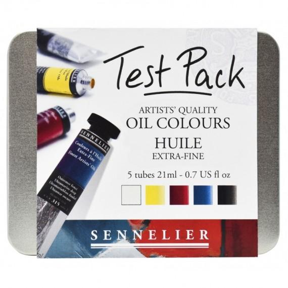Boite Huile SENNELIER Test pack - Extra-fines - 5 Tubes de 21 ml