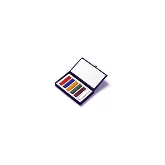 Boite encre en bâton - SAIBOKU - Encre SUMI - 6 couleurs (15220)