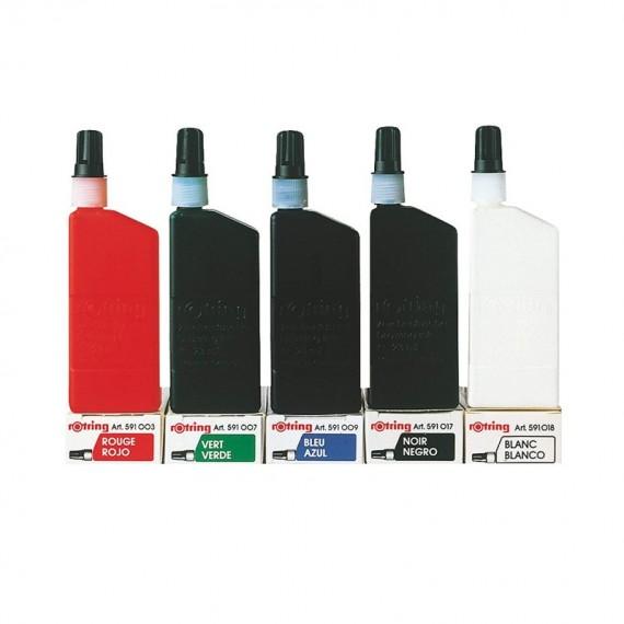 Encre à dessiner ISO ROTRING - Flacon: 23 ml - Blanche