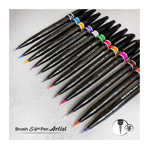 Feutre pinceau PENTEL Sign pen - Pointe souple ultra fine (Non rechargeable)