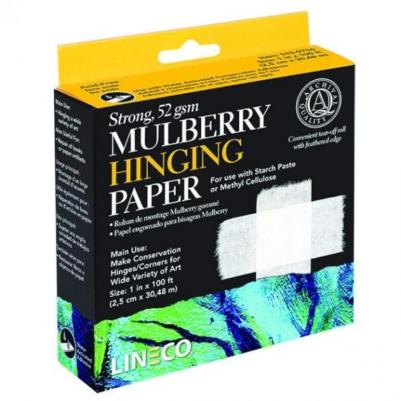 """RUBAN DE MONTAGE PAPIER MURIER """"MULBERRY"""" 2.5 CM X 30.48 CM - LINECO"""