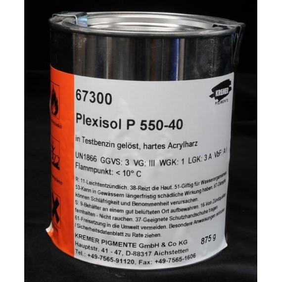 RESINE ACRYLIQUE  P550.40 TB BIDON 1 L (PLEXISOL)