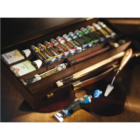Coffret Huile REMBRANDT Professional - Extra-fine - 13 tubes de 40 ml  + accessoires
