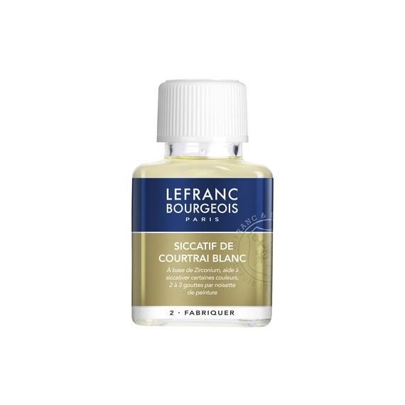 Siccatif LEFRANC & BOURGEOIS Courtrai blanc - Sans plomb - 75 ml