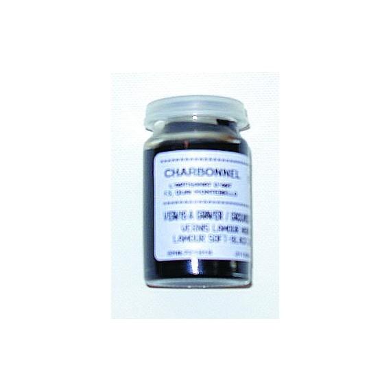Vernis gravure CHARBONNEL Lamour - Noir mou - Pot: 20 ml