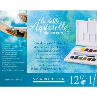 Boite aquarelle SENNELIER La petite aquarelle - Fine - 12 1/2 godets (Plastique blanc)