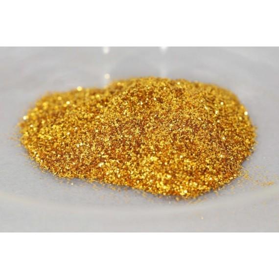Pigment KREMER - Pot: 100 gr - Polyester glitter royal gold