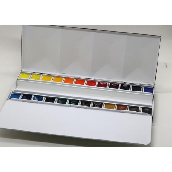 Boite aquarelle BLOCKX - Extra-fine - Luxe - 24 1/2 godets - 4-1-524