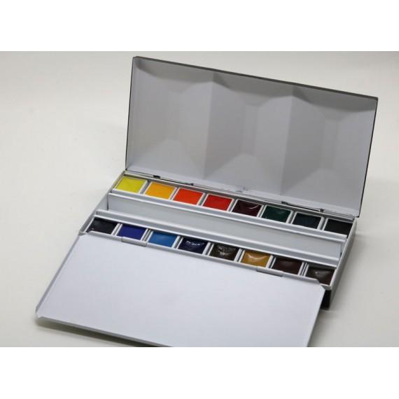 Boite aquarelle BLOCKX - Extra-fine - Luxe - 16 1/2 godets - 4-1-516