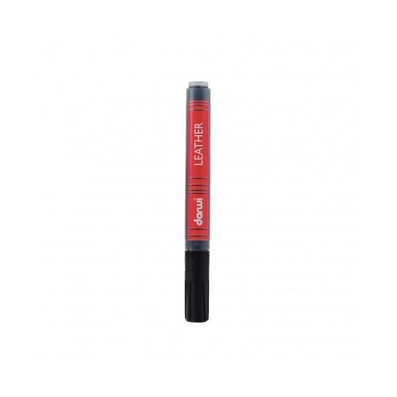 Feutre pour tissu DARWI LEATHER - Feutre pour cuir - Flacon: 6 ml - Noir