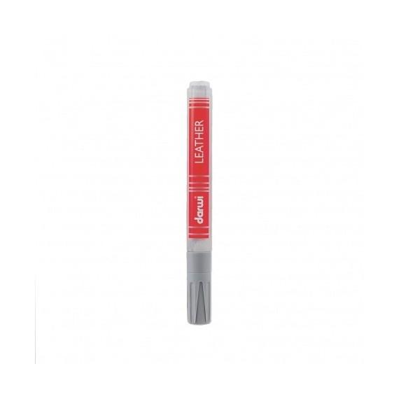 Feutre pour tissu DARWI LEATHER - Feutre pour cuir - Flacon: 6 ml - Gris froid