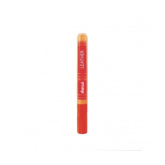 Feutre pour tissu DARWI LEATHER - Feutre pour cuir - Flacon: 6 ml - Orange