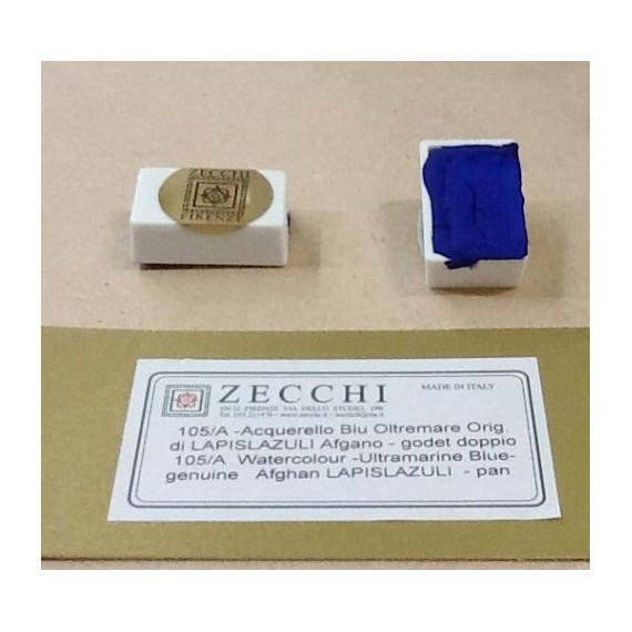 Aquarelle ZECCHI - Extra-fine -Traditionnelle - Godet - Lapis Lazzuli