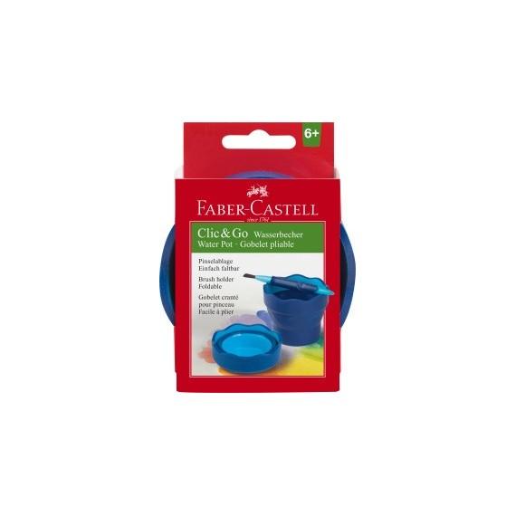 Gobelet à eau FABER & CASTELL - CLIC & GO - Bleu