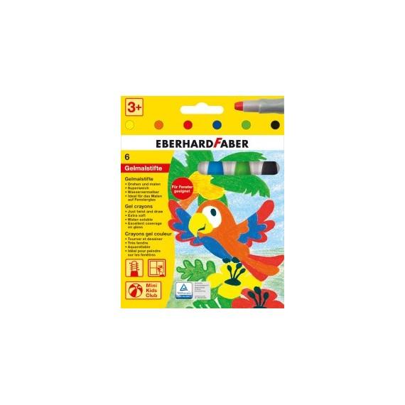 Boite crayon FABER & CASTELL - 6 Crayons gel - 529006