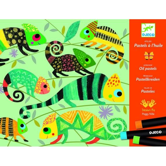 Atelier pastels DJECO - Jungle colorée