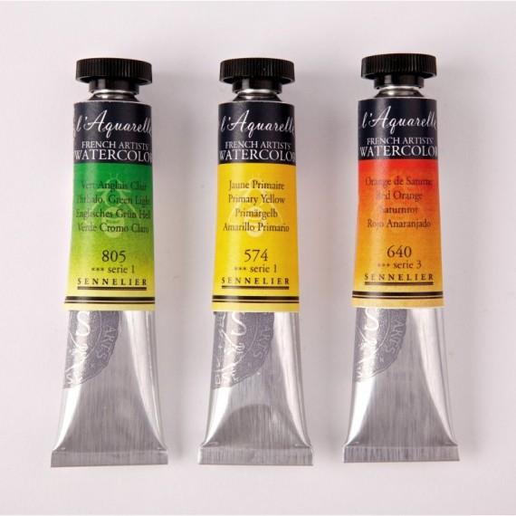 Aquarelle SENNELIER - Extra-fine - Série 4 - Tube: 21 ml - Jaune de cadmium orange véritable