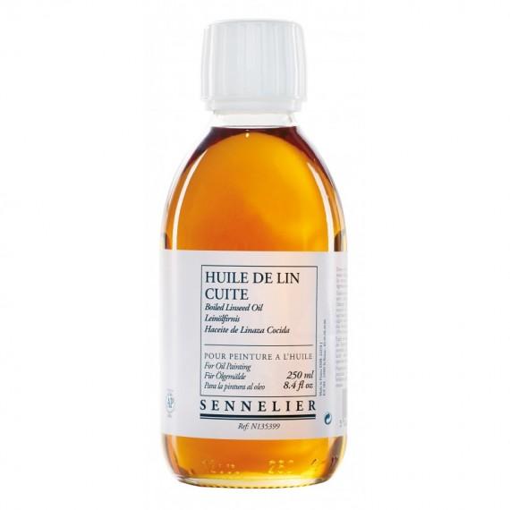 Huile de lin cuite SENNELIER - Flacon:250 ml