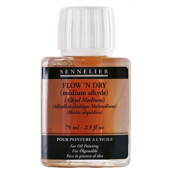 Médium huile SENNELIER - Flow'n dry - Flacon: 75 ml
