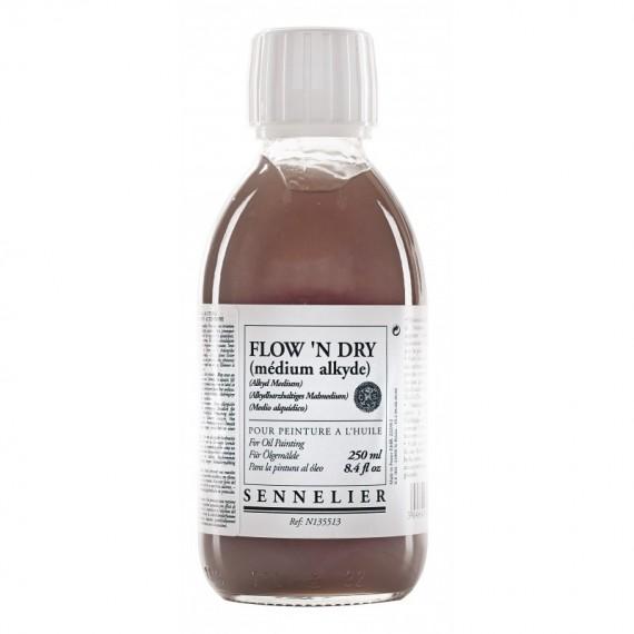 Médium huile SENNELIER - Flow'n dry - Flacon: 250 ml