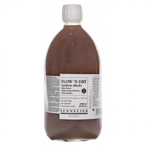 Médium huile SENNELIER - Flow'n dry - Flacon: 1 litre