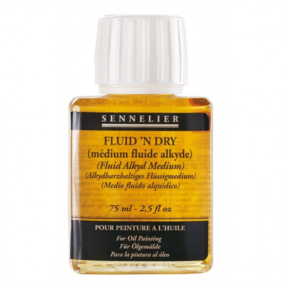 Médium huile SENNELIER - Fluid'n dry - Flacon:  75 ml