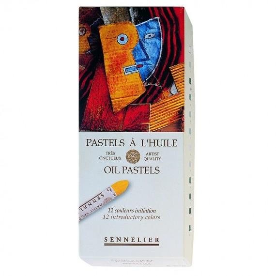 Boite pastel à l'huile SENNELIER - 12 Pastels à l'huile - Initiation (Carton) - N132520