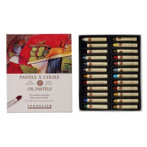 Boite pastel à l'huile SENNELIER - 24 Pastels à l'huile - Nature morte (Carton) - N132520.242