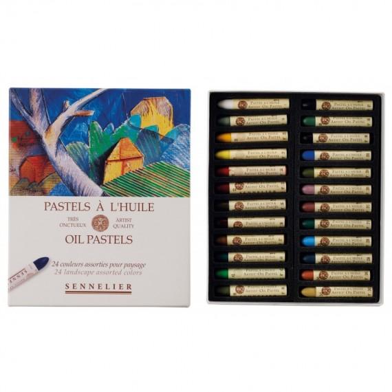 Boite pastel à l'huile SENNELIER - 24 Pastels à l'huile - Paysage (Carton) - N132520.241