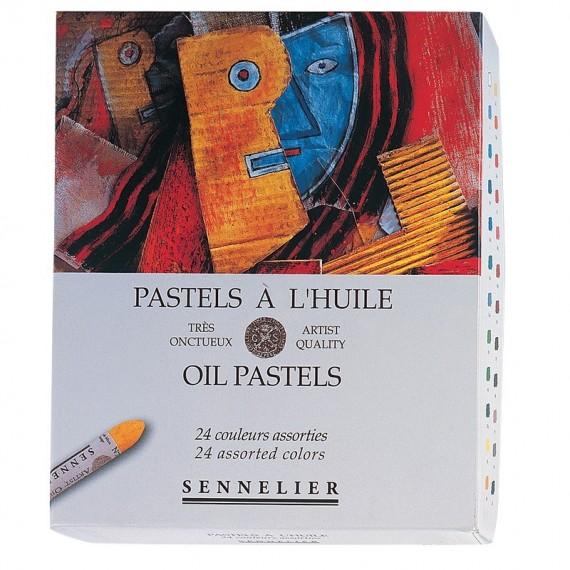 Boite pastel à l'huile SENNELIER - 24 Pastels à l'huile - Unversel (Carton) - N132520.24
