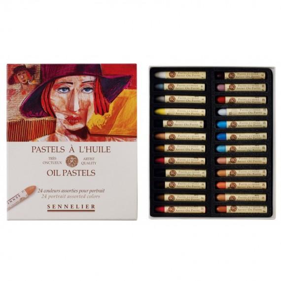 Boite pastel à l'huile SENNELIER - 24 Pastels à l'huile - Portrait (Carton) - N132520.243