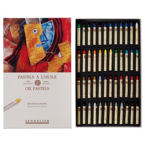 Boite pastel à l'huile SENNELIER - 48 Pastels à l'huile - Universel (Carton) - N132520