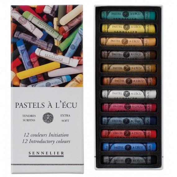 Boite pastel à l'écu SENNELIER - 12 pastels à l'écu - Initiation (Carton) - N132220