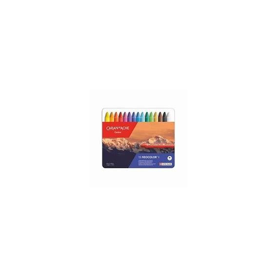 Boite pastel à la cire CARAN D'ACHE - Neocolor I - 15 Pastels 7000.315 (Métal)