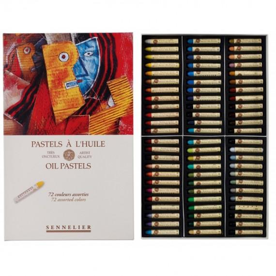 Boite pastel à l'huile SENNELIER - 72 Pastels à l'huile - Universel (Carton) -  N132520.
