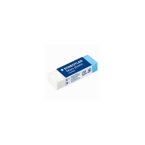 Gomme STAEDTLER Blanche et bleue - 526 508 - La gomme