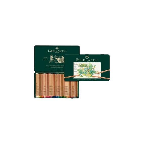 Boite craie FABER & CASTELL Pitt - 36 pastels assortis 112136 (Métal)