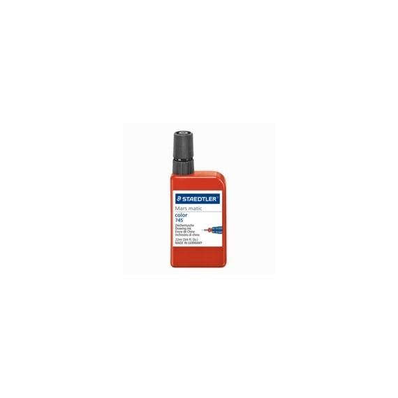 Encre à dessiner - Encre de couleurs MARS MATIC 745 - Pour Papier & Calque - Flacon: 22 ml - Rouge