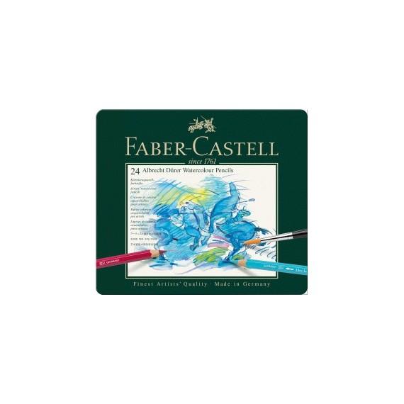 Boite crayon aquarelle FABER & CASTELL Abrecht Durer - 24 crayons 117524 (Métal)
