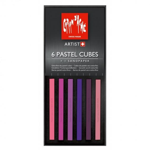 Boite craie pastel CARAN D'ACHE - 6 cubes pastel  7806...