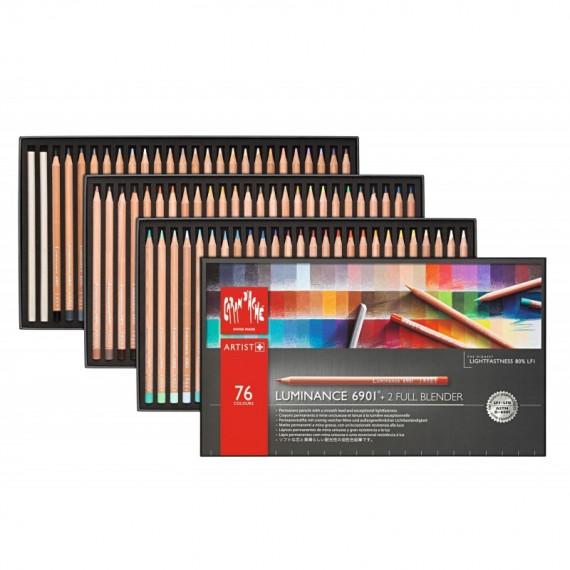 Boite crayon de couleur CARAN D'ACHE Luminance - 76 crayons luminance 6901.776 (Métal)