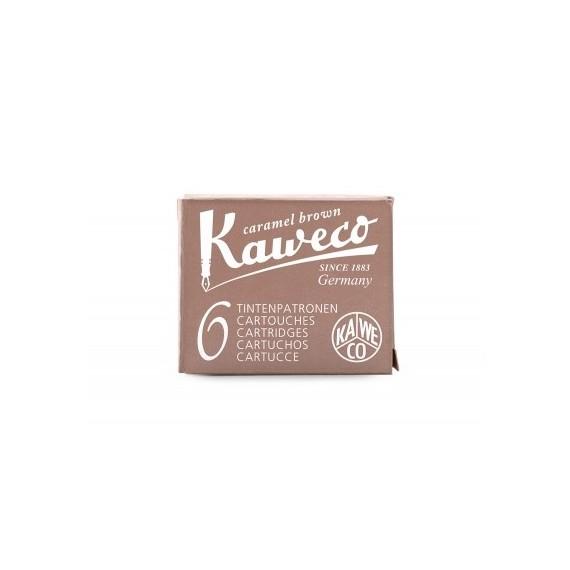 Cartouche encre KAWECO - Boite  de 6 cartouches - Caramel