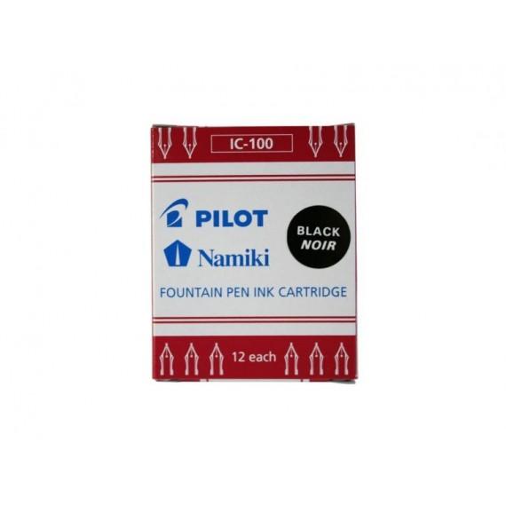 Cartouche PILOT Namki - 12 cartouches noir pour stylo-plume Pilot