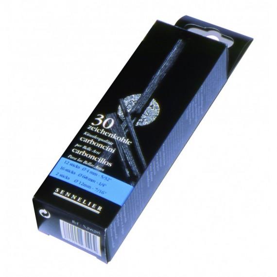 Boite fusain COATES - 30 fusains assorties (Bleu)