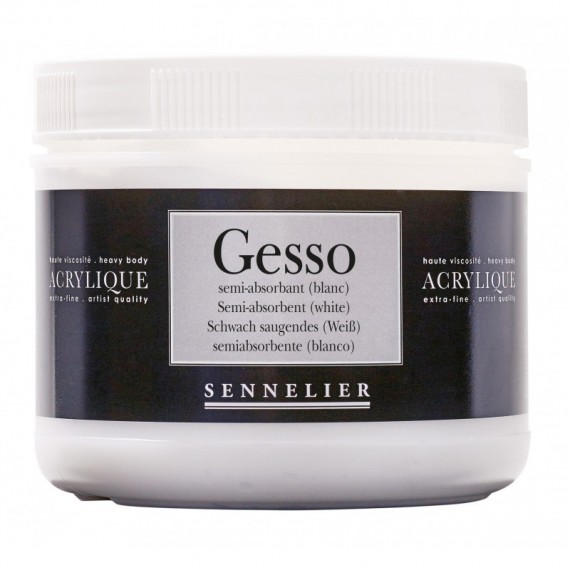 GESSO SENNELIER ACRYLIQUE SEMI-ABSORBANT POT 500 Ml