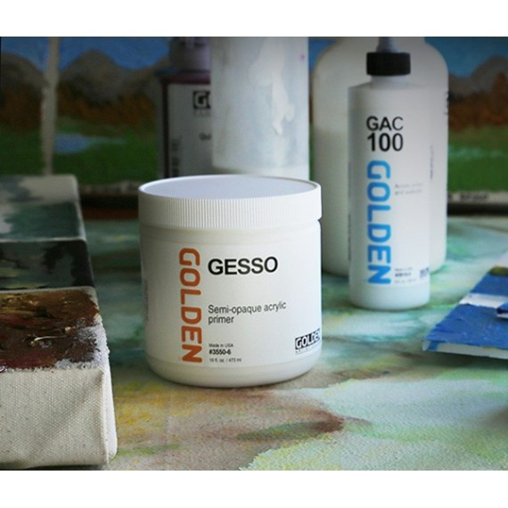 GESSO GOLDEN BLACK POT 473 Ml