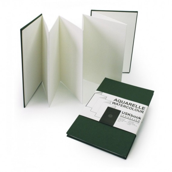 CARNET SENNELIER URBAN WATERCOLOR ROUGH BOOK ACCORDEON 300 Gr VERT F 16 X 24 cm