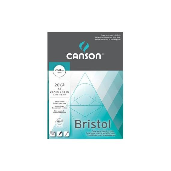 Bloc dessin CANSON Bristol - 250g (20f) - F:21 x 29