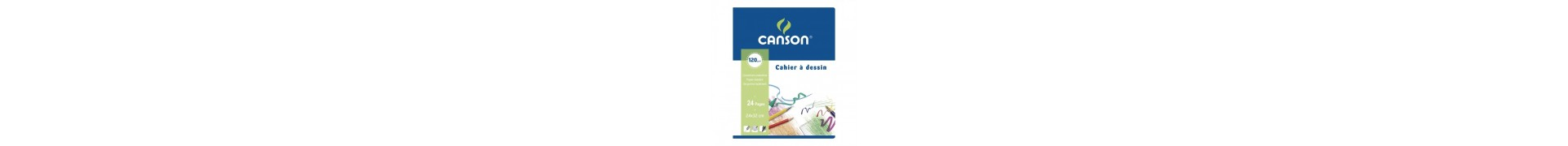 Cahier dessin CANSON  - 120g (24 p) - F:24 x 32 cm (C200027109) - Agraphes