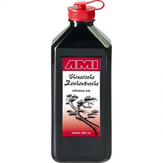 Encre de chine AMI - Encre CHINA TUSCHE - Flacon: 250 ml - 578013